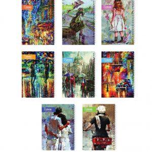 دفتر تحریر طرح هنری – فنرتک (80 برگ)