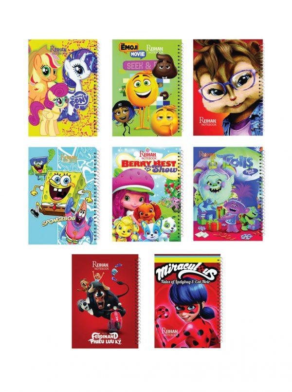 دفتر نقاشی کودکان – فنرتک (50 برگ)
