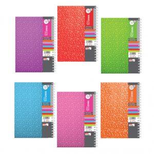 پخش عمده دفتر رحلی جلد طلقی رنگی سیمی (160 برگ)