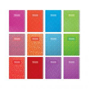 فروش عمده دفترچه یادداشت طلقی 1/8 سیمی (100 برگ)